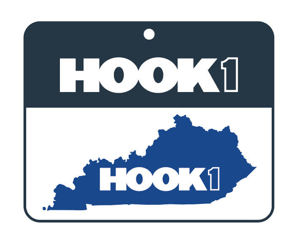Kentucky State Decal Blue / White Accessories Hook 1 Outfitters - Hook 1 Outfitters/Kayak Fishing Gear