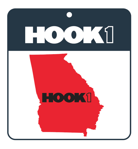 Georgia State Decal  Accessories Hook 1 Outfitters - Hook 1 Outfitters/Kayak Fishing Gear