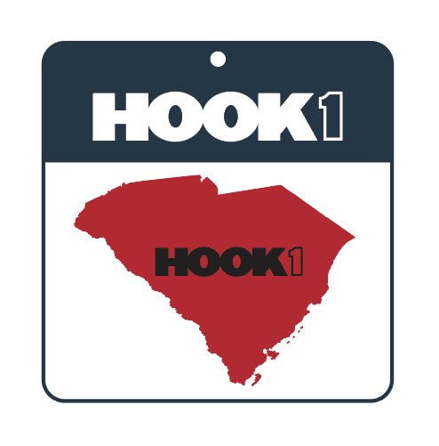South Carolina State Decal  Accessories Hook 1 Outfitters - Hook 1 Outfitters/Kayak Fishing Gear