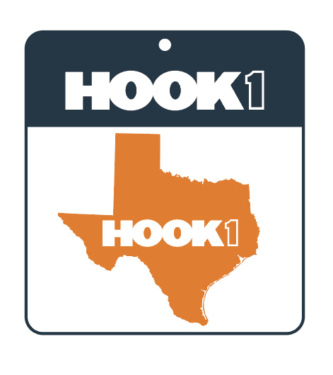 Texas State Decal Burnt Orange / White Accessories Hook 1 Outfitters - Hook 1 Outfitters/Kayak Fishing Gear