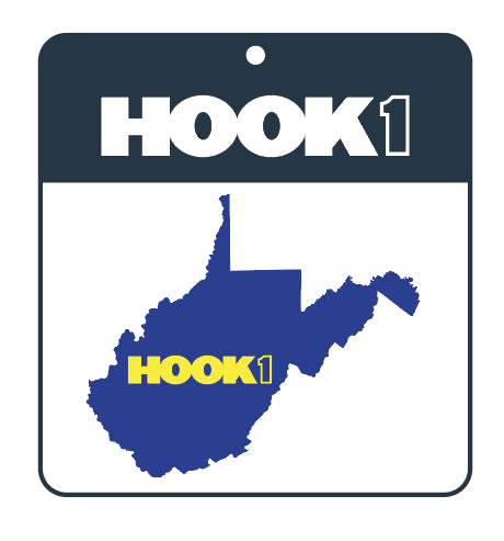 West Virginia State Decal  Accessories Hook 1 Outfitters - Hook 1 Outfitters/Kayak Fishing Gear