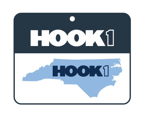 North Carolina State Decal  Accessories Hook 1 Outfitters - Hook 1 Outfitters/Kayak Fishing Gear