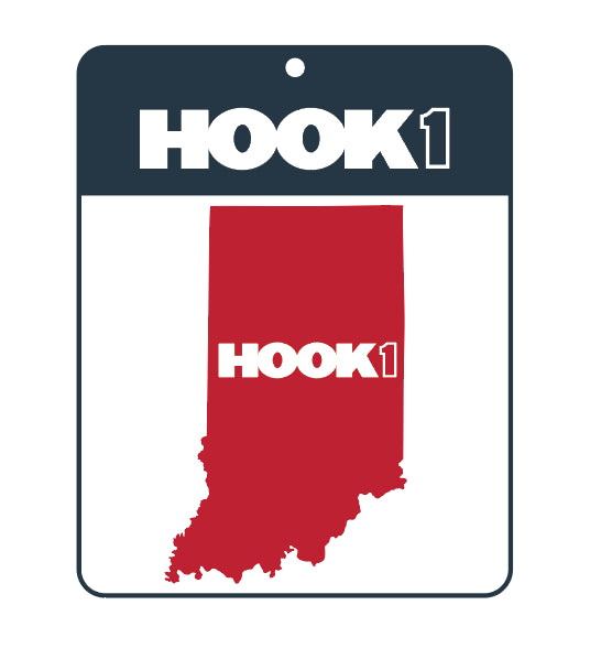 Indiana State Decal  Accessories Hook 1 Outfitters - Hook 1 Outfitters/Kayak Fishing Gear