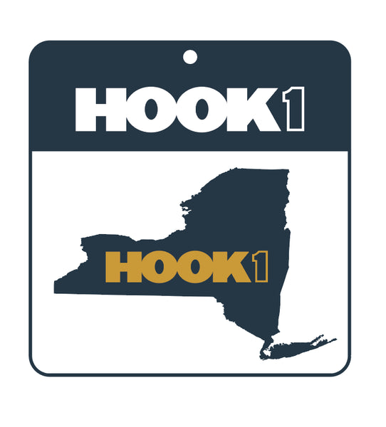 New York State Decal  Accessories Hook 1 Outfitters - Hook 1 Outfitters/Kayak Fishing Gear