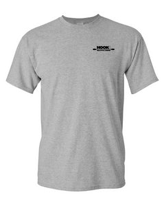 Hook 1 Black Paddle Logo Grey T-Shirt  Tops Hook 1 Outfitters - Hook 1 Outfitters/Kayak Fishing Gear