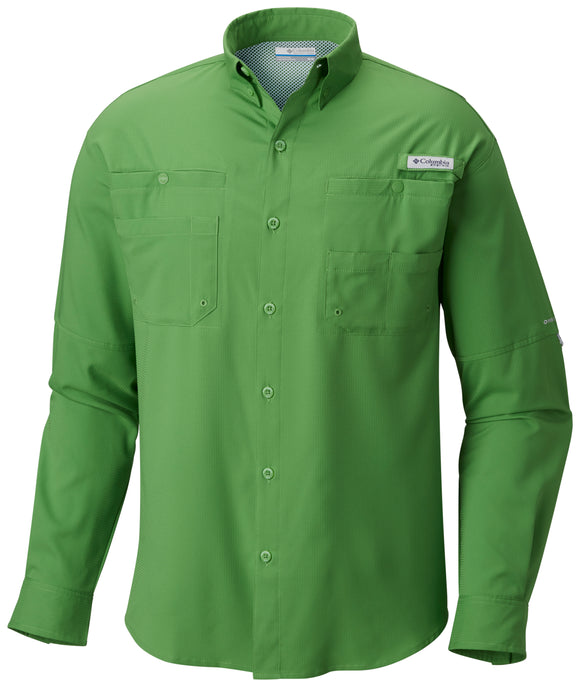 Men's Tamiami™ II Long Sleeve Shirt - CLOSEOUT Clean Green / S Tops Columbia - Hook 1 Outfitters/Kayak Fishing Gear
