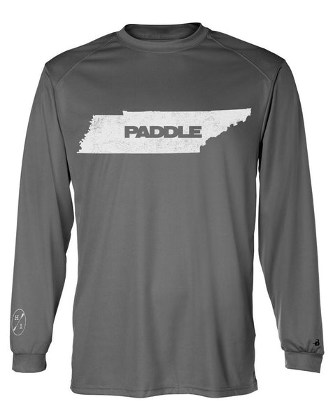 Paddle TN Grey Performance L/S  Tops Hook 1 Outfitters - Hook 1 Outfitters/Kayak Fishing Gear