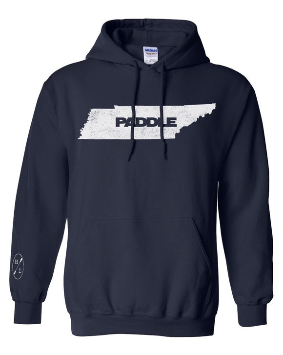 Paddle TN Hoodie - Navy  Tops Hook 1 Outfitters - Hook 1 Outfitters/Kayak Fishing Gear