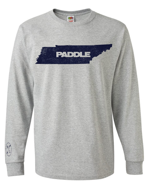 Paddle TN Grey Cotton L/S  Tops Hook 1 Outfitters - Hook 1 Outfitters/Kayak Fishing Gear