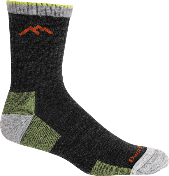 Men's Hiker Micro Crew Sock Cushion Lime / Medium Footwear Darn Tough - Hook 1 Outfitters/Kayak Fishing Gear