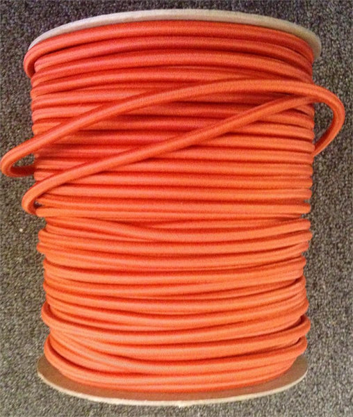 "Bungee / Shock Cord 1/4"" - Orange  Bungee/Deck Line/Webbing Other - Hook 1 Outfitters/Kayak Fishing Gear"