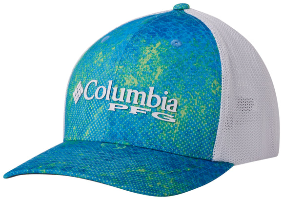Camo Mesh Ball Cap Hyper Blue Realtree MAKO  Hats Columbia - Hook 1 Outfitters/Kayak Fishing Gear