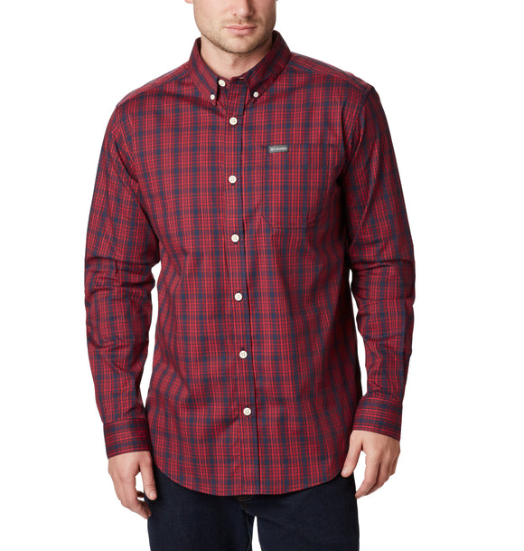 Rapid Rivers™ II Long Sleeve Shirt Collegiate Navy Small Plaid / M Tops Columbia - Hook 1 Outfitters/Kayak Fishing Gear