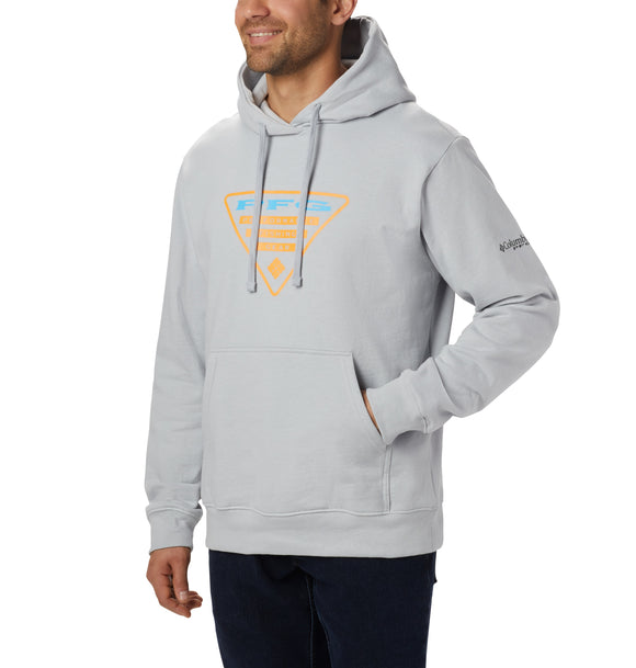 PFG Triangle Hoodie Cool Grey, Summer Orange / M Tops Columbia - Hook 1 Outfitters/Kayak Fishing Gear