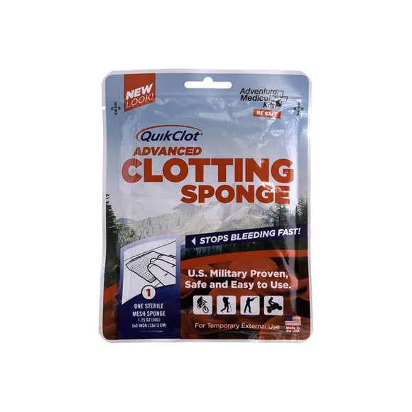 QuikClot Advanced Clotting Sponge 50g.  First Aid Adventure Medical Kit - Hook 1 Outfitters/Kayak Fishing Gear