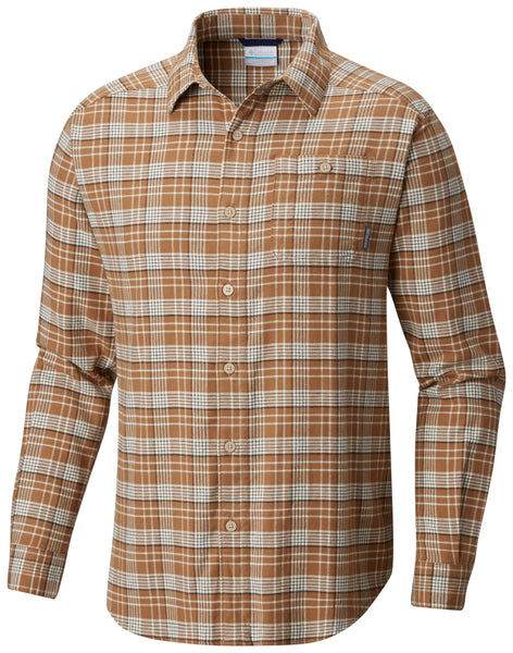 Cornell Woods™ Flannel Long Sleeve Shirt Delta Plaid - CLOSEOUT / M Tops Columbia - Hook 1 Outfitters/Kayak Fishing Gear
