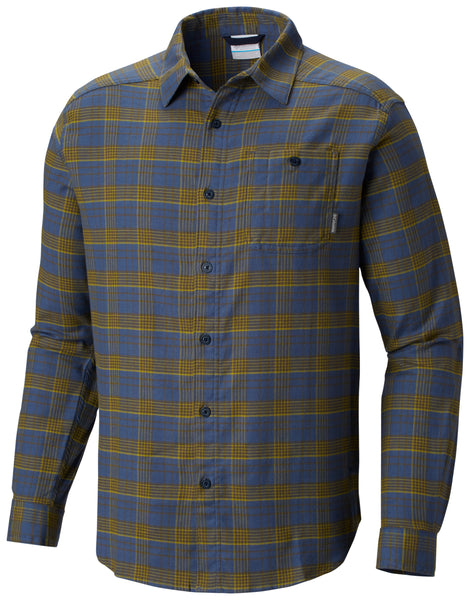 Cornell Woods™ Flannel Long Sleeve Shirt Dark Mountain Plaid - CLOSEOUT / M Tops Columbia - Hook 1 Outfitters/Kayak Fishing Gear