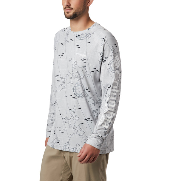 Super Terminal Tackle™ Long Sleeve Shirt - CLOSEOUT Cool Grey Topo / M Tops Columbia - Hook 1 Outfitters/Kayak Fishing Gear