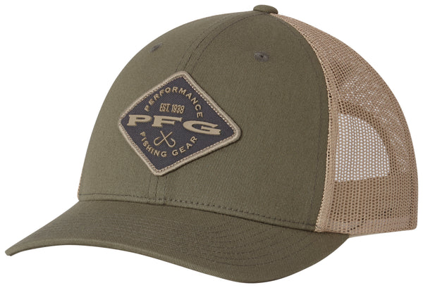 19ba17a27cfad SOLD OUT PFG MESH SNAP BACK™ BALL CAP CYPRESS DIAMOND Hats Columbia - Hook  1 Outfitters