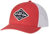 PFG MESH SNAP BACK™ BALL CAP SUNSET RED DIAMOND  Hats Columbia - Hook 1 Outfitters/Kayak Fishing Gear