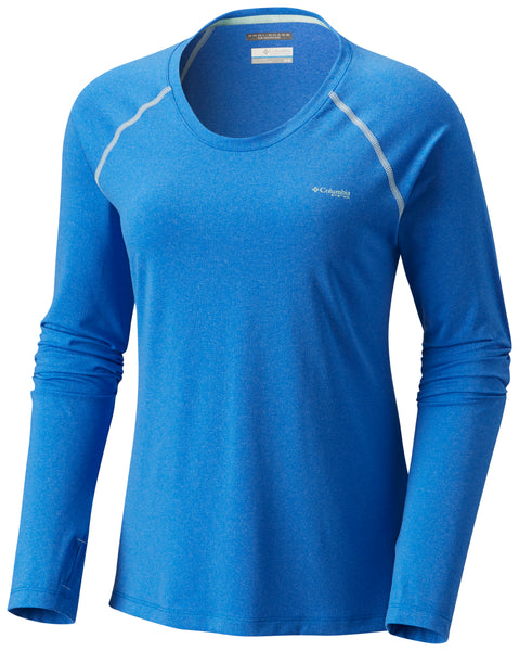 Tamiami™ Heather Knit Long Sleeve Blue Macaw Heat / S Tops Columbia - Hook 1 Outfitters/Kayak Fishing Gear