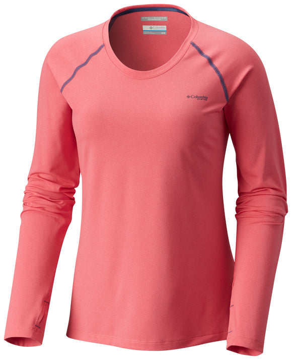 Tamiami™ Heather Knit Long Sleeve - CLOSEOUT Lollipop Heather - CLOSEOUT / S Tops Columbia - Hook 1 Outfitters/Kayak Fishing Gear