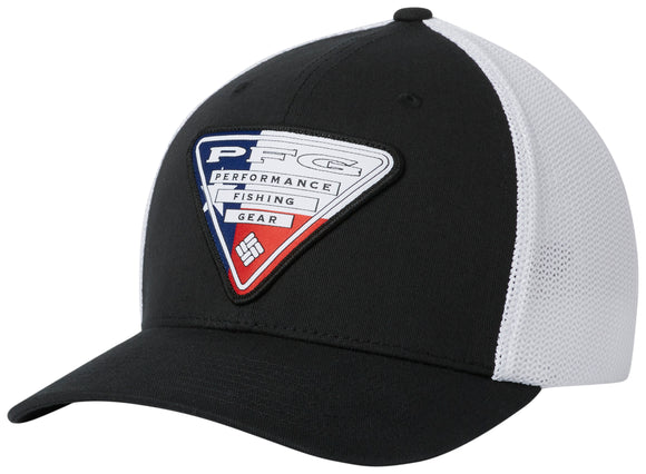 PFG Mesh Stateside Ball Cap Black, Texas Tr  Hats Columbia - Hook 1 Outfitters/Kayak Fishing Gear
