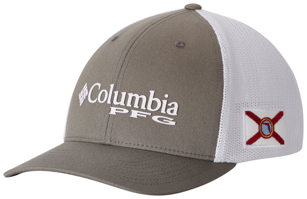 PFG Mesh Stateside Ball Cap Titanium, Florida  Hats Columbia - Hook 1 Outfitters/Kayak Fishing Gear