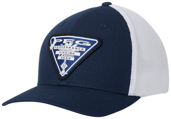PFG Mesh Stateside Ball Cap Collegiate Navy  Hats Columbia - Hook 1 Outfitters/Kayak Fishing Gear