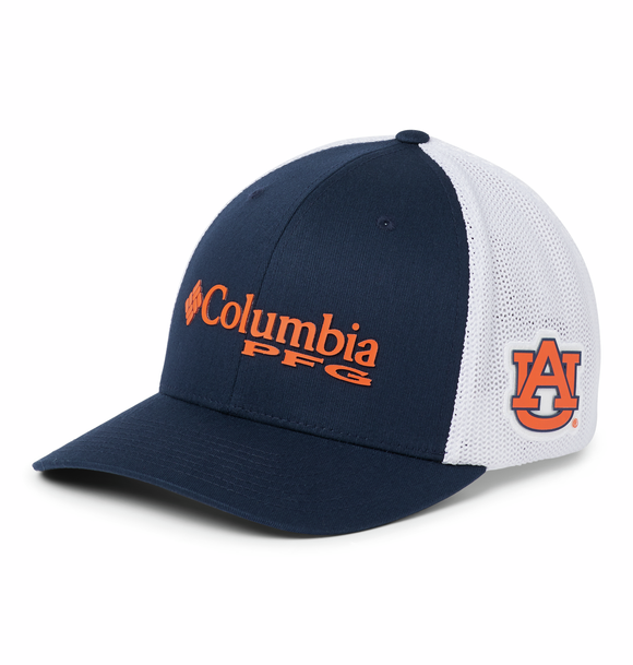 Collegiate PFG Mesh™ Ball Cap - Auburn - Collegiate Navy  Hats Columbia - Hook 1 Outfitters/Kayak Fishing Gear