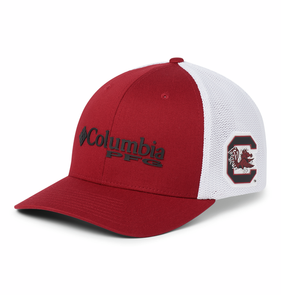Collegiate PFG Mesh™ Ball Cap - South Carolina - Beet  Hats Columbia - Hook 1 Outfitters/Kayak Fishing Gear