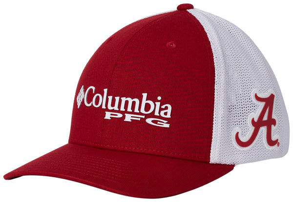 Collegiate PFG Mesh Ball Cap Alabama  Hats Columbia - Hook 1 Outfitters/Kayak Fishing Gear