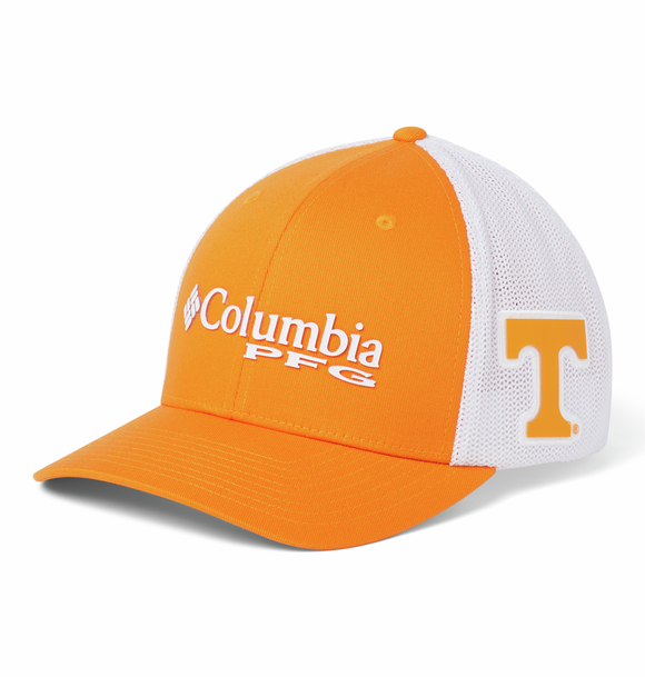 Collegiate PFG Mesh™ Ball Cap - Tennessee - Solarize  Hats Columbia - Hook 1 Outfitters/Kayak Fishing Gear