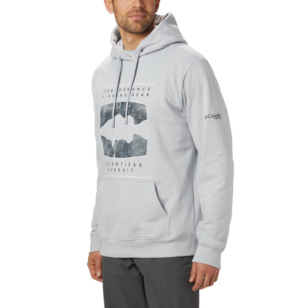 PFG™ Seasonal Hoodie Cool Grey, Bass / M Tops Columbia - Hook 1 Outfitters/Kayak Fishing Gear