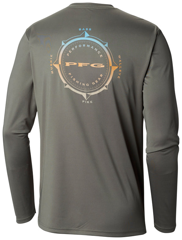 Terminal Tackle PFG Compass LS Shirt - CLOSEOUT Cypress / L Tops Columbia - Hook 1 Outfitters/Kayak Fishing Gear