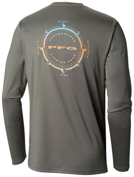 Terminal Tackle PFG Compass LS Shirt Cypress / L Tops Columbia - Hook 1 Outfitters/Kayak Fishing Gear