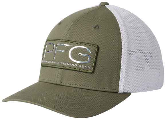 PFG Mesh Hooks Ball Cap Cypress, Silver  Hats Columbia - Hook 1 Outfitters/Kayak Fishing Gear
