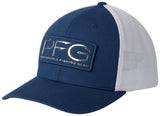 PFG Mesh Hooks Ball Cap Carbon, Silver  Hats Columbia - Hook 1 Outfitters/Kayak Fishing Gear