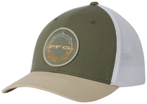 PFG Mesh Seasonal Ball Cap Cypress, Fossil  Hats Columbia - Hook 1 Outfitters/Kayak Fishing Gear