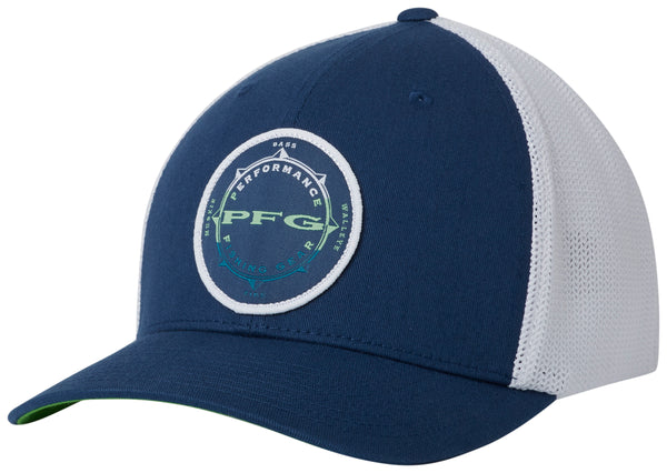 PFG Mesh Seasonal Ball Cap Carbon, White  Hats Columbia - Hook 1 Outfitters/Kayak Fishing Gear
