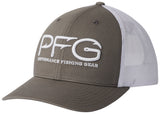 PFG Mesh Snap Back Hooks Ball Cap Titanium/Silver  Hats Columbia - Hook 1 Outfitters/Kayak Fishing Gear