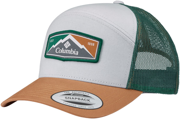 Trail Evolution II Snap Back Hat Cool Grey, Camel Brown Patch  Hats Columbia - Hook 1 Outfitters/Kayak Fishing Gear