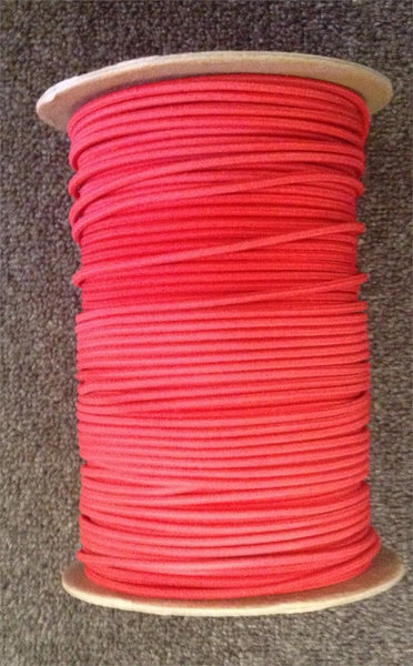 "Bungee / Shock Cord 1/8"" Red  Bungee/Deck Line/Webbing Other - Hook 1 Outfitters/Kayak Fishing Gear"