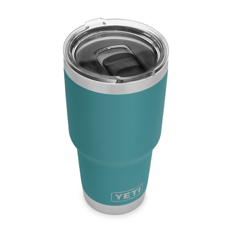 Rambler 30oz Tumbler River Green w/Mag Slider Lid  Mugs Yeti - Hook 1 Outfitters/Kayak Fishing Gear