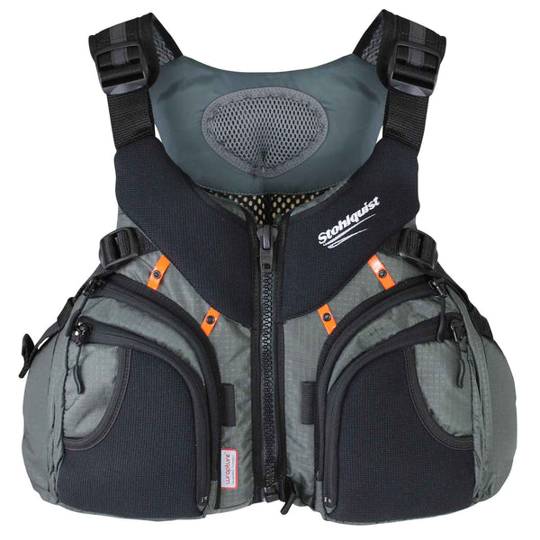 Keeper MEDIUM / GREY Life Jackets - PFDs and FLOTATION Stohlquist - Hook 1 Outfitters/Kayak Fishing Gear