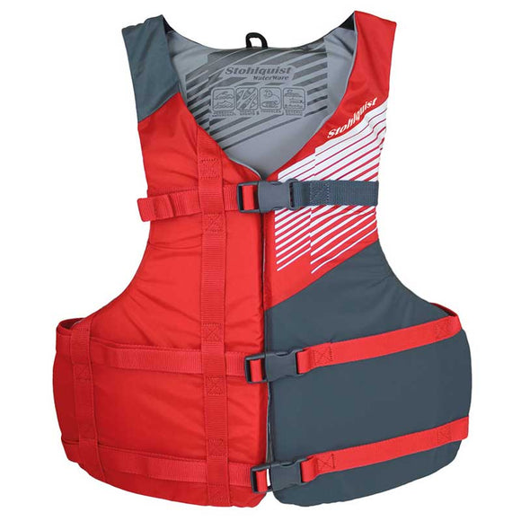 Stohlquist Fit Red / Universal Life Jackets - PFDs and FLOTATION Stohlquist - Hook 1 Outfitters/Kayak Fishing Gear