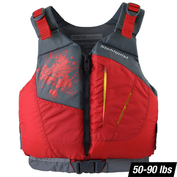 Escape Youth Youth / Red Life Jackets - PFDs and FLOTATION Stohlquist - Hook 1 Outfitters/Kayak Fishing Gear