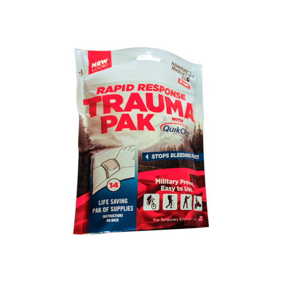 Rapid Response Trauma Pak with QuikClot®  First Aid Adventure Medical Kit - Hook 1 Outfitters/Kayak Fishing Gear