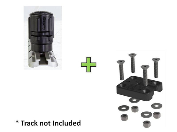 Scotty Gear - Head Track Adapter - No. 438/YakAttack GearTrac Combo  Scotty Mounts Scotty - Hook 1 Outfitters/Kayak Fishing Gear