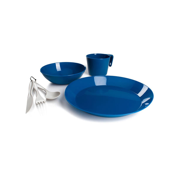 Cascadian 1 Person Table Set- Blue  Dinnerware GSI - Hook 1 Outfitters/Kayak Fishing Gear